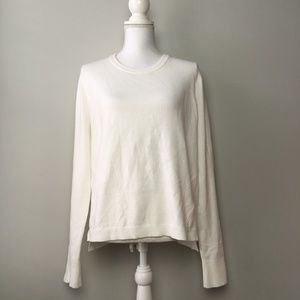French Connection Off White Long Sleeve Sweater
